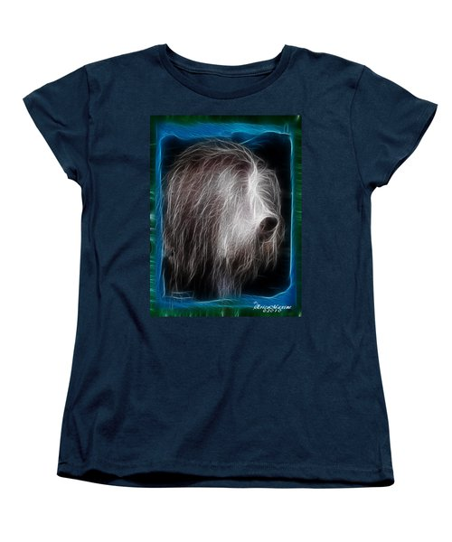 Women's T-Shirt (Standard Cut) featuring the photograph Big Shaggy Dog by EricaMaxine  Price