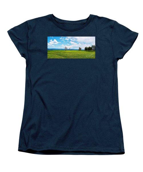 Big Summit Prairie In Bloom Women's T-Shirt (Standard Cut) by Michele Penner