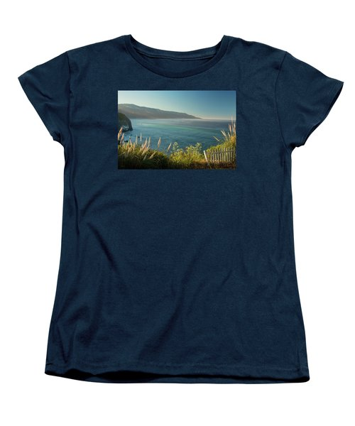 Women's T-Shirt (Standard Cut) featuring the photograph Big Sur At Lucia, Ca by Dana Sohr