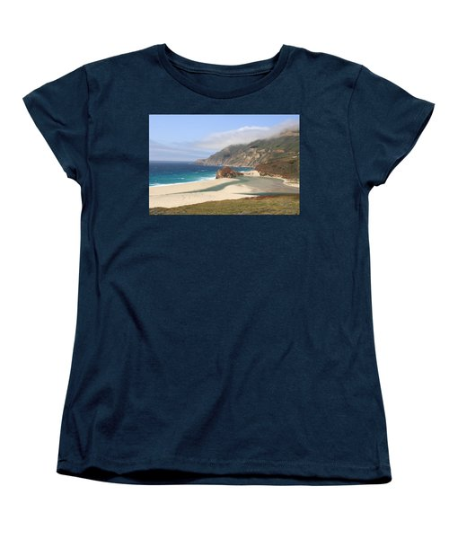 Big Sur Beach Women's T-Shirt (Standard Cut) by Lou Ford