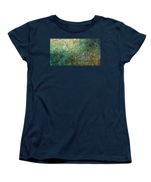 Women's T-Shirt (Standard Cut) featuring the painting Big Universe - Abstract Art by Carmen Guedez