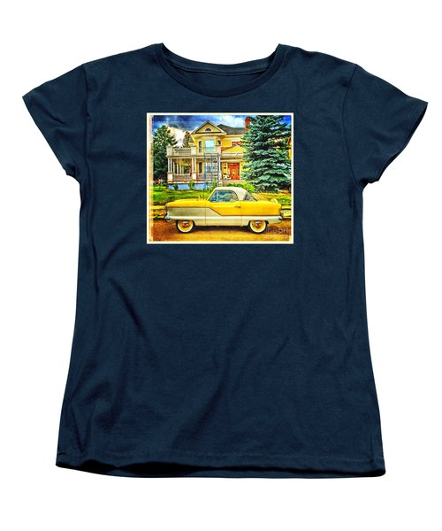 Big Yellow Metropolis Women's T-Shirt (Standard Cut) by Craig J Satterlee
