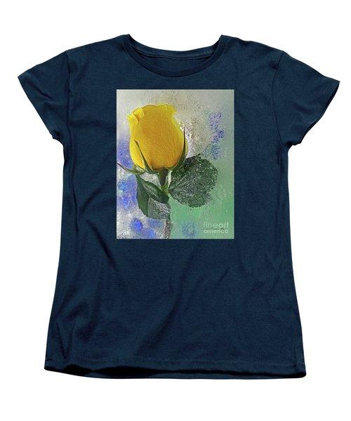 Women's T-Shirt (Standard Cut) featuring the digital art Big Yellow by Terry Foster