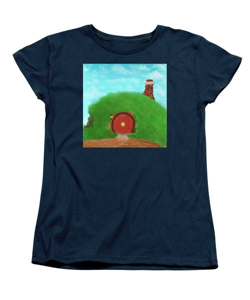 Bilbo's Home In The  Shire Women's T-Shirt (Standard Cut) by Kevin Caudill