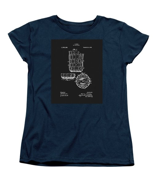 Women's T-Shirt (Standard Cut) featuring the mixed media Billiards Table Pocket Patent by Dan Sproul