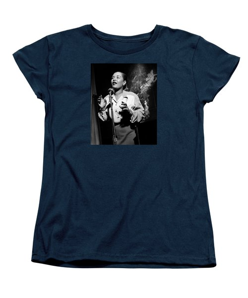 Billie Holiday  New York City Circa 1948 Women's T-Shirt (Standard Cut) by David Lee Guss