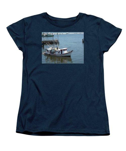 Bilouxi Shrimp Boat Women's T-Shirt (Standard Cut) by Cynthia Powell