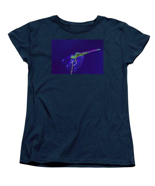 Bioluminescent Dragonfly Women's T-Shirt (Standard Cut) by Richard Patmore