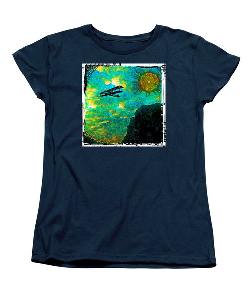 Biplane Women's T-Shirt (Standard Cut) by Iowan Stone-Flowers