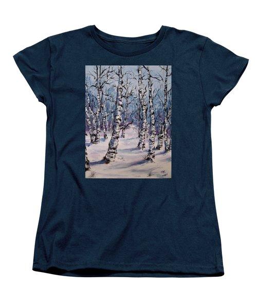 Birch Forest  Women's T-Shirt (Standard Cut) by Megan Walsh