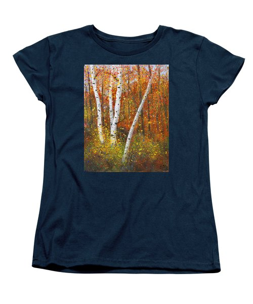Birches Women's T-Shirt (Standard Cut) by Garry McMichael