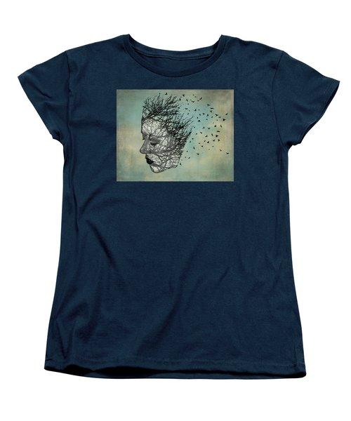 Bird Lady Women's T-Shirt (Standard Cut) by Diana Boyd