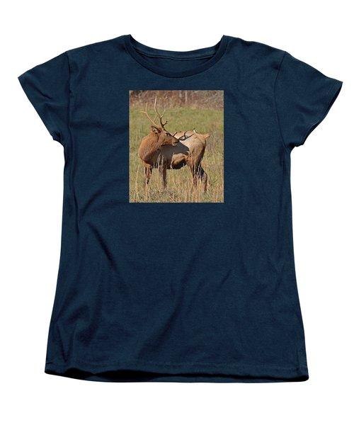 Bird On My Back Women's T-Shirt (Standard Cut) by Alan Lenk