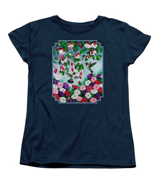 Bird Painting - Hummingbird Heaven Women's T-Shirt (Standard Cut) by Crista Forest