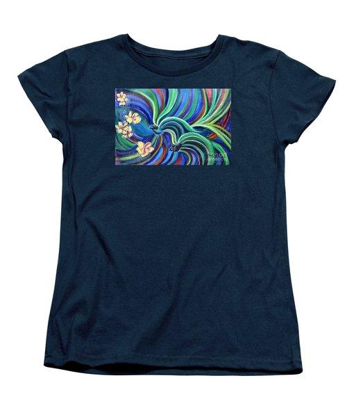 Bird Symphony With Frangipani Women's T-Shirt (Standard Cut)