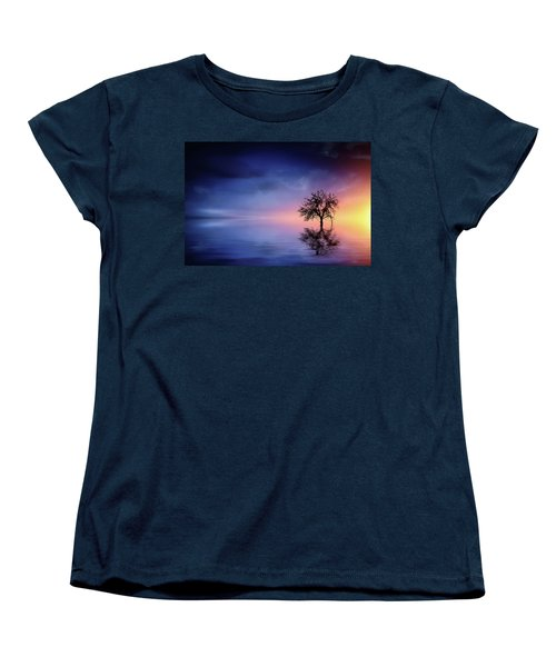 Birds In The Trees, Some Are Fleeing Women's T-Shirt (Standard Cut) by Bess Hamiti