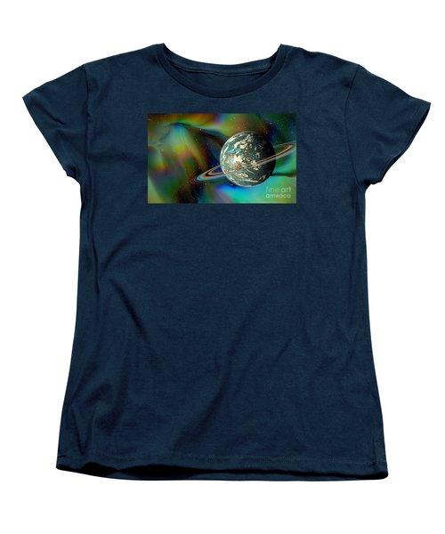 Birthing Planet Women's T-Shirt (Standard Cut) by Curtis Koontz
