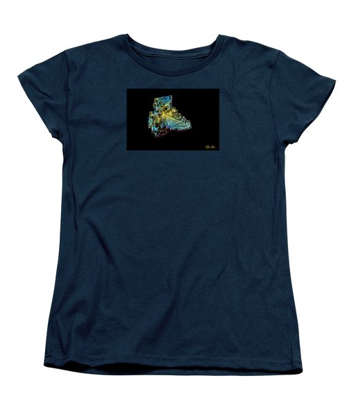 Women's T-Shirt (Standard Cut) featuring the photograph Bismuth Crystal by Rikk Flohr