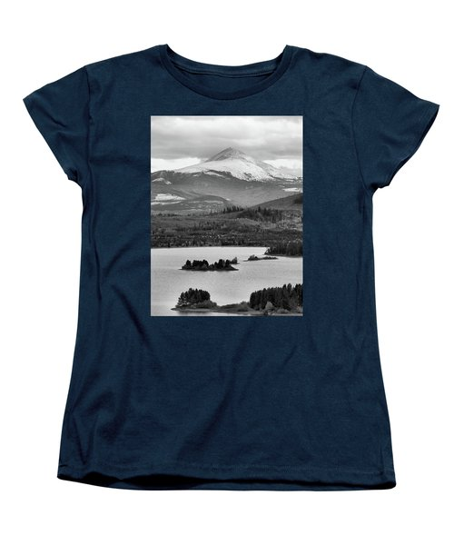 Women's T-Shirt (Standard Cut) featuring the photograph Black And White Breckenridge by Dan Sproul