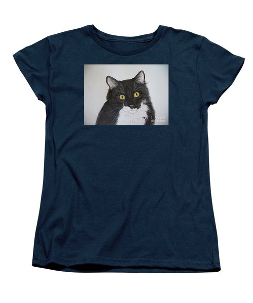 Black And White Cat Women's T-Shirt (Standard Fit)