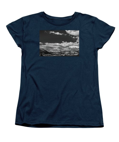 Black And White Small Town  Women's T-Shirt (Standard Cut)