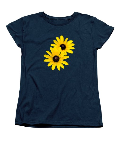 Black Eyed Susans Women's T-Shirt (Standard Cut) by Christina Rollo