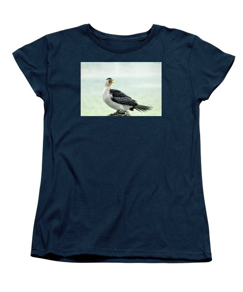 black faced Cormorant 02 Women's T-Shirt (Standard Cut) by Kevin Chippindall