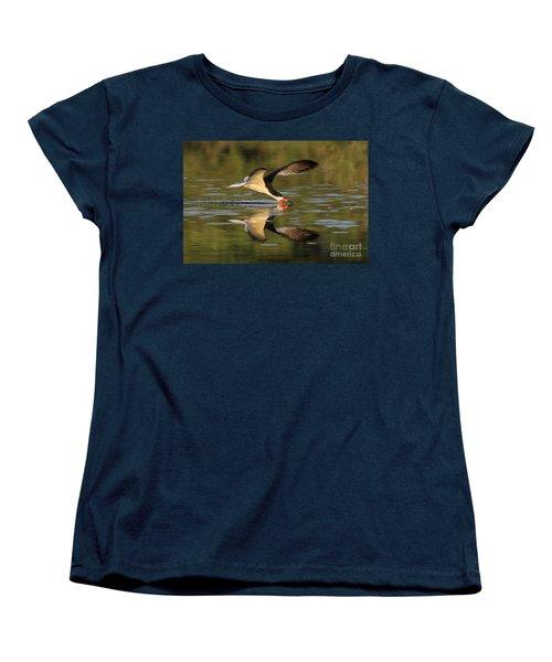 Black Skimmer Fishing Women's T-Shirt (Standard Cut) by Meg Rousher