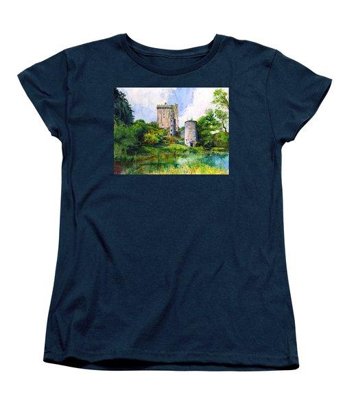 Blarney Castle Landscape Women's T-Shirt (Standard Cut) by John D Benson