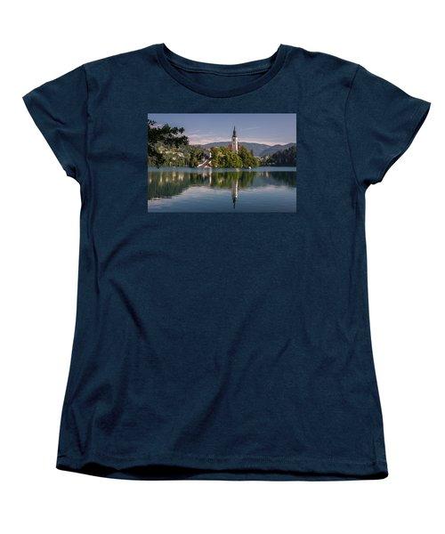 Women's T-Shirt (Standard Cut) featuring the photograph Bled by Davorin Mance