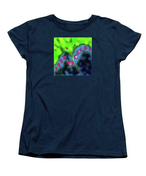 Bleeding Hearts Women's T-Shirt (Standard Cut) by Latha Gokuldas Panicker