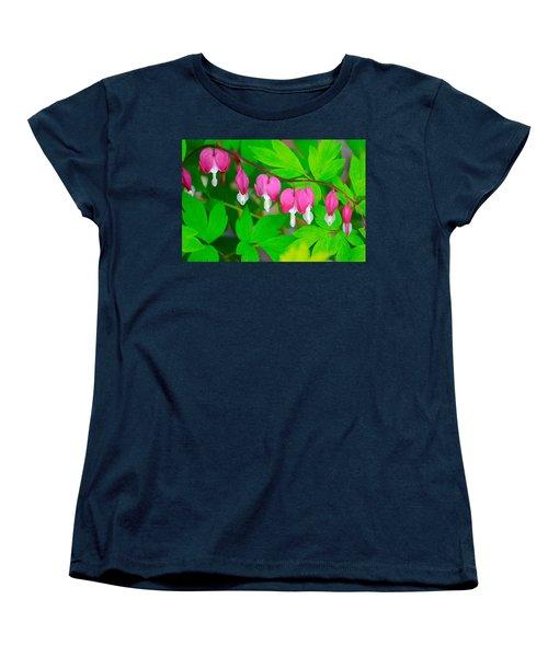 Bleeding Hearts Women's T-Shirt (Standard Cut) by Tiffany Erdman