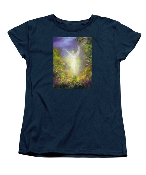 Women's T-Shirt (Standard Cut) featuring the painting Blessing Angel by Marina Petro
