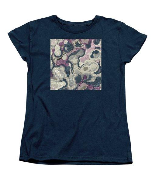 Women's T-Shirt (Standard Cut) featuring the digital art Blobs - 01c01 by Variance Collections