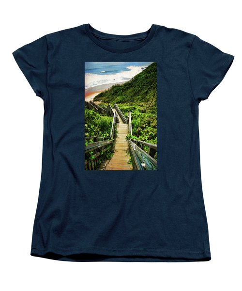 Block Island Women's T-Shirt (Standard Cut) by Lourry Legarde