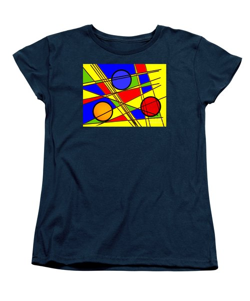 Women's T-Shirt (Standard Cut) featuring the photograph Blocks Of Color by Trena Mara