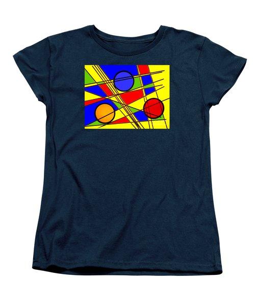 Blocks Of Color Women's T-Shirt (Standard Cut) by Trena Mara