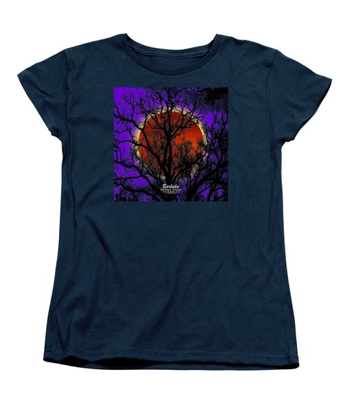 Women's T-Shirt (Standard Cut) featuring the photograph Blood Moon Trees by Barbara Tristan