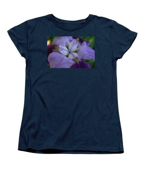 Women's T-Shirt (Standard Cut) featuring the digital art Blooming Iris by Barbara S Nickerson