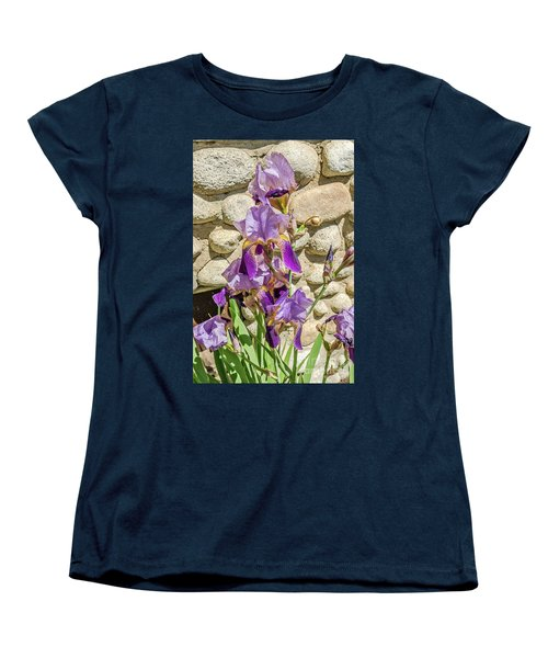 Blooming Purple Iris Women's T-Shirt (Standard Cut) by Sue Smith