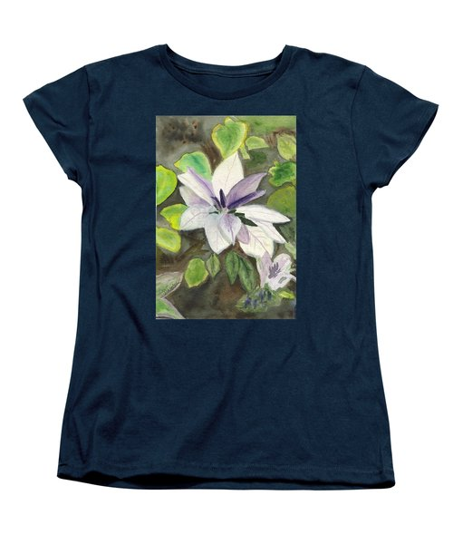 Women's T-Shirt (Standard Cut) featuring the painting Blossom At Sundy House by Donna Walsh