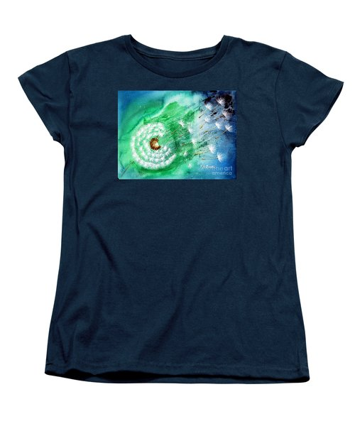 Women's T-Shirt (Standard Cut) featuring the painting Blown Away by Maria Barry