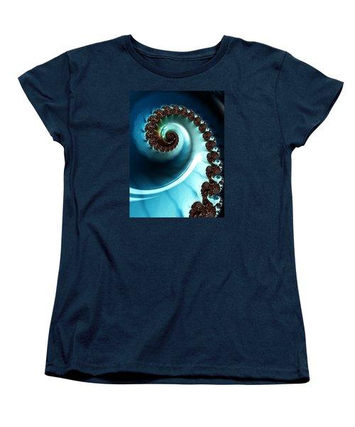 Blue Albania Women's T-Shirt (Standard Cut) by Jeff Iverson