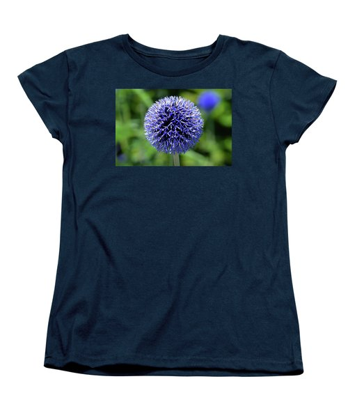 Women's T-Shirt (Standard Cut) featuring the photograph Blue Allium by Terence Davis