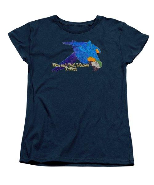 Blue And Gold Macaw Women's T-Shirt (Standard Cut) by Zazu's House Parrot Sanctuary