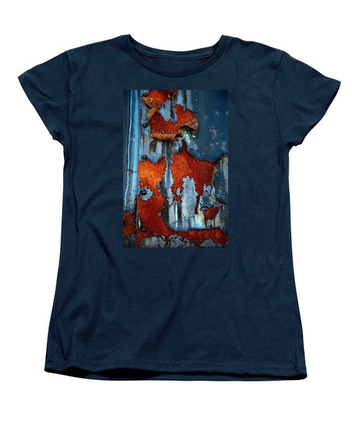 Women's T-Shirt (Standard Cut) featuring the photograph Blue And Rust by Karol Livote