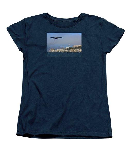 Blue Angels C130 Fat Albert Passes Alcatraz Women's T-Shirt (Standard Cut)