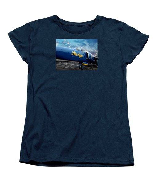 Blue Angels Grumman F11 Women's T-Shirt (Standard Cut) by Rod Seel