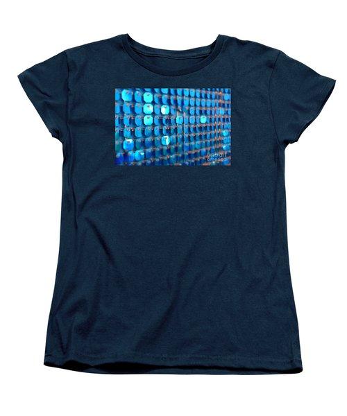Blue Women's T-Shirt (Standard Cut) by Barbara Bardzik
