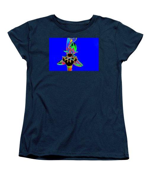 Blue Bee Orchid Women's T-Shirt (Standard Cut) by Richard Patmore